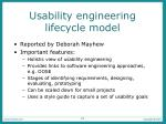 usability engineering lifecycle model