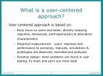 what is a user centered approach
