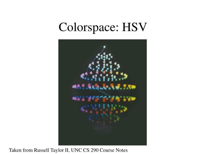 Colorspace: HSV