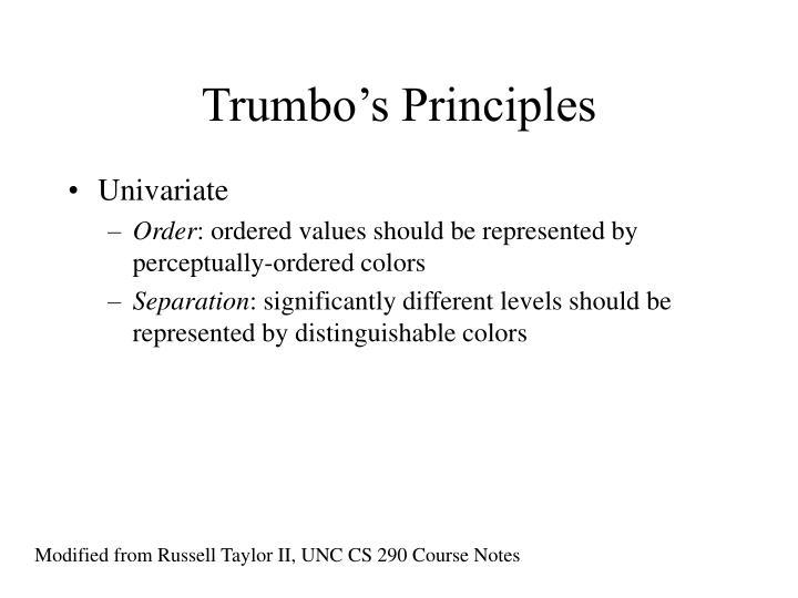Trumbo's Principles