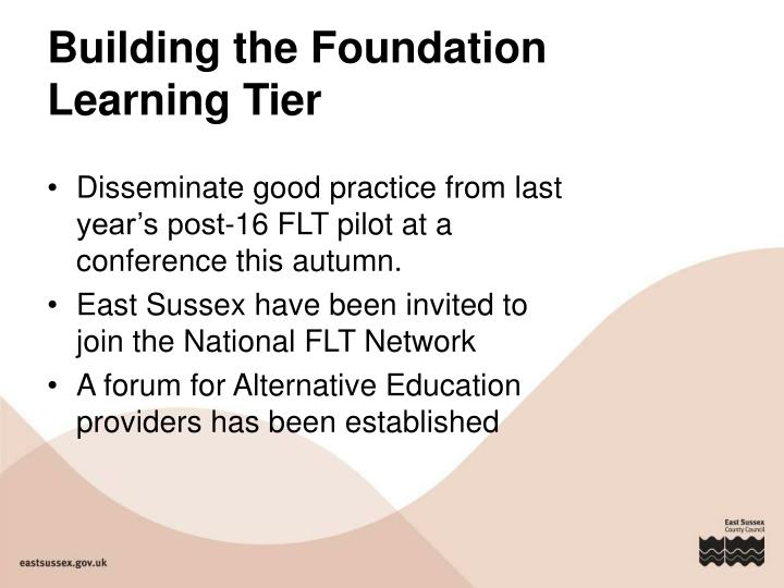 Building the Foundation Learning Tier