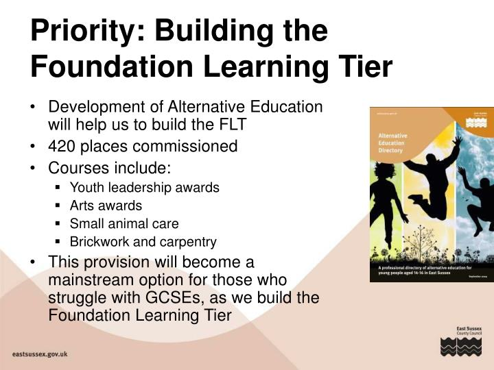 Priority: Building the Foundation Learning Tier