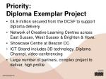 priority diploma exemplar project