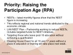 priority raising the participation age rpa