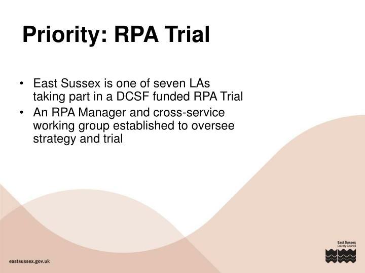 Priority: RPA Trial