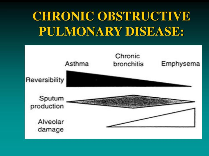 CHRONIC OBSTRUCTIVE PULMONARY DISEASE: