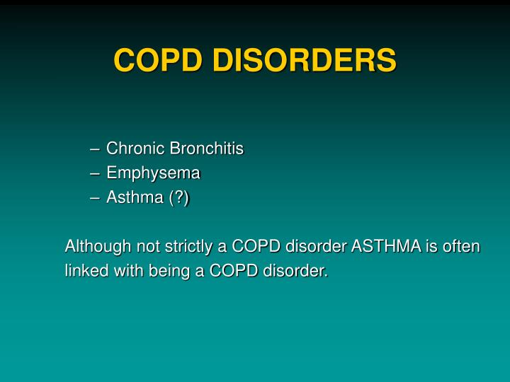 COPD DISORDERS