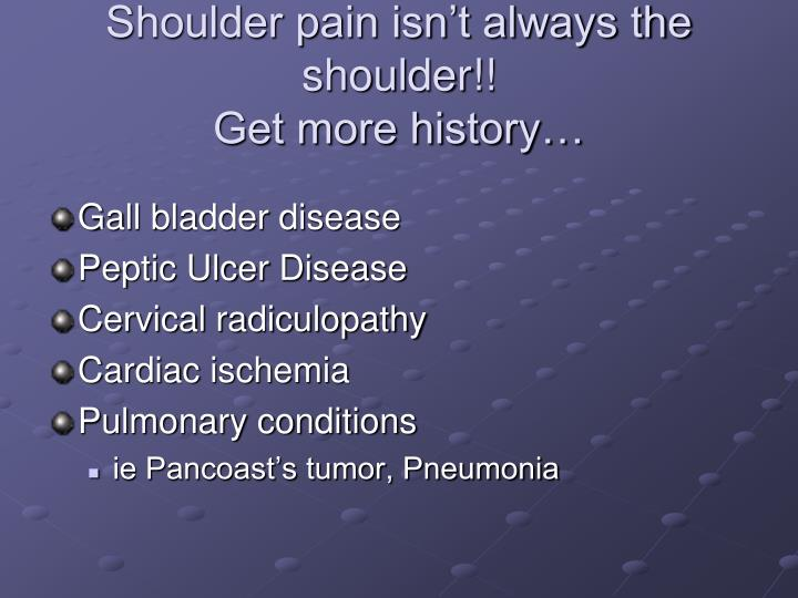 Shoulder pain isn't always the shoulder!!