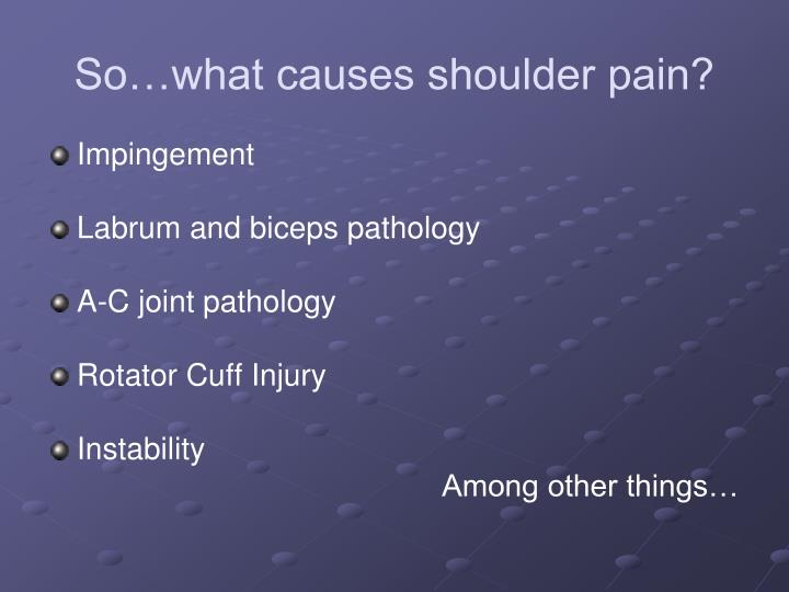 So…what causes shoulder pain?