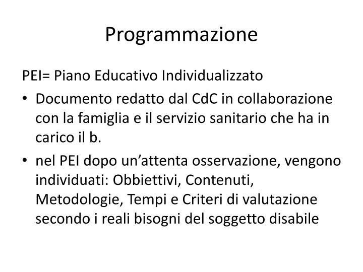 Programmazione