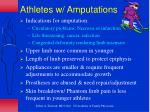 athletes w amputations
