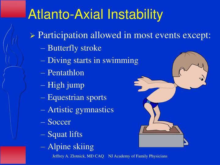 Atlanto-Axial Instability