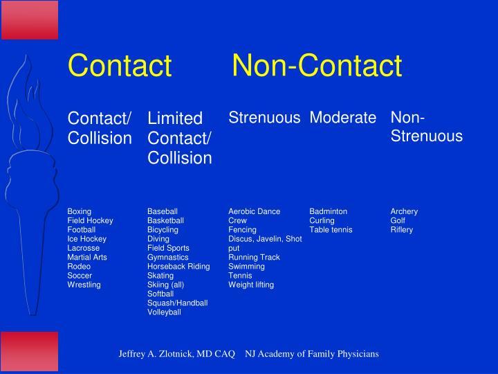 Contact       Non-Contact