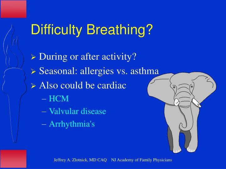 Difficulty Breathing?