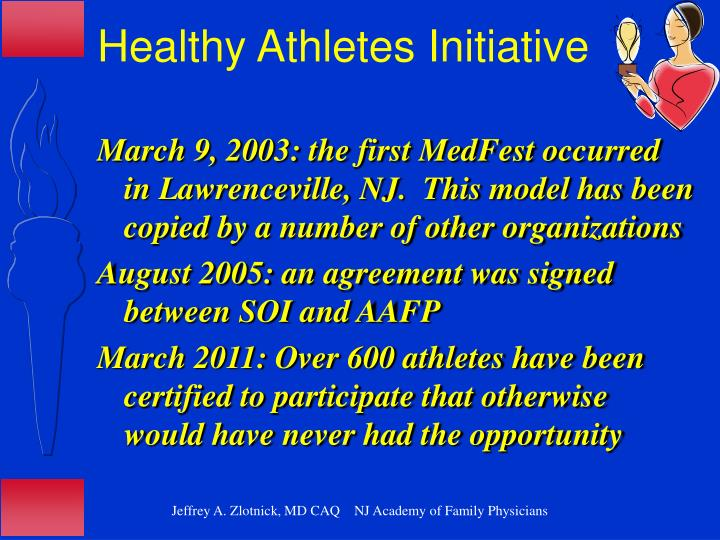 Healthy Athletes Initiative