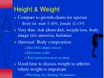 height weight