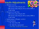 insulin adjustments