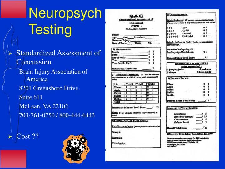 Neuropsych Testing
