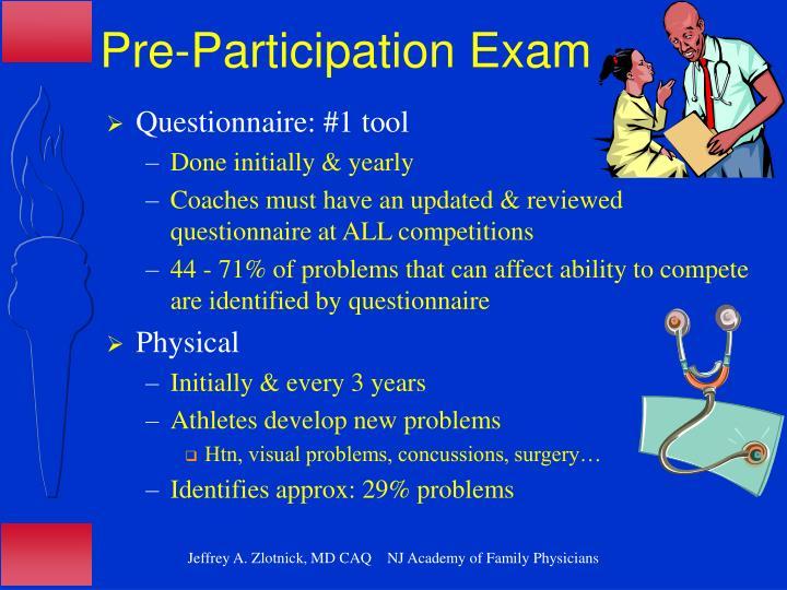 Pre-Participation Exam