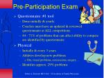 pre participation exam