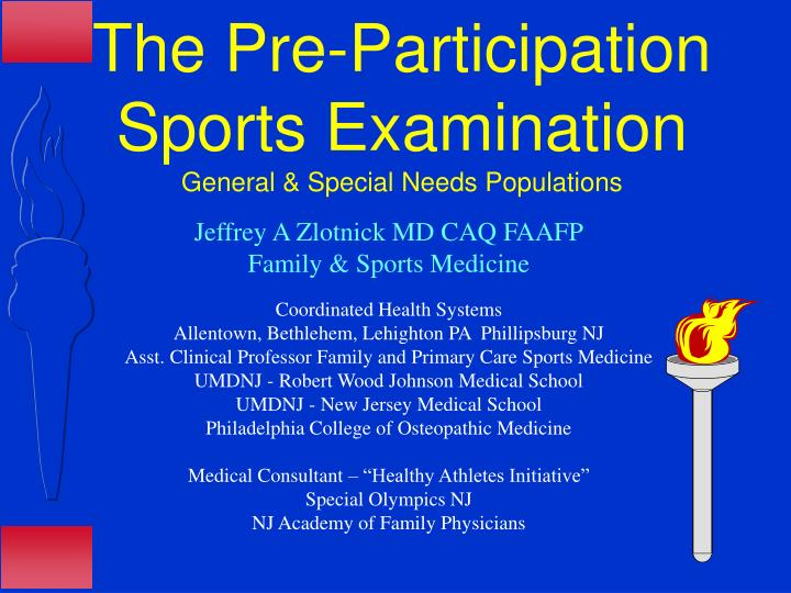 The Pre-Participation Sports Examination