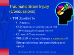 traumatic brain injury concussions