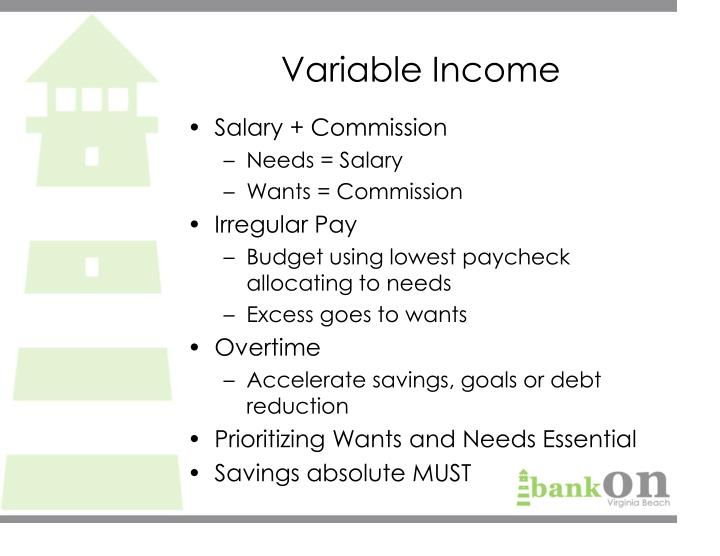 Variable Income