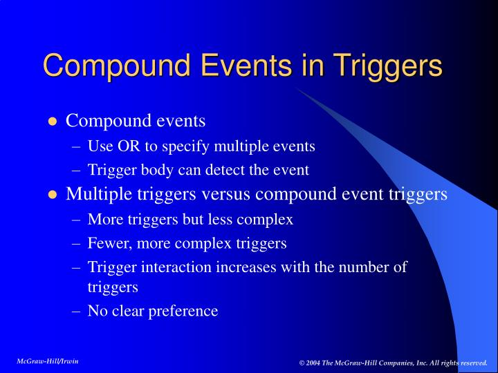 Compound Events in Triggers