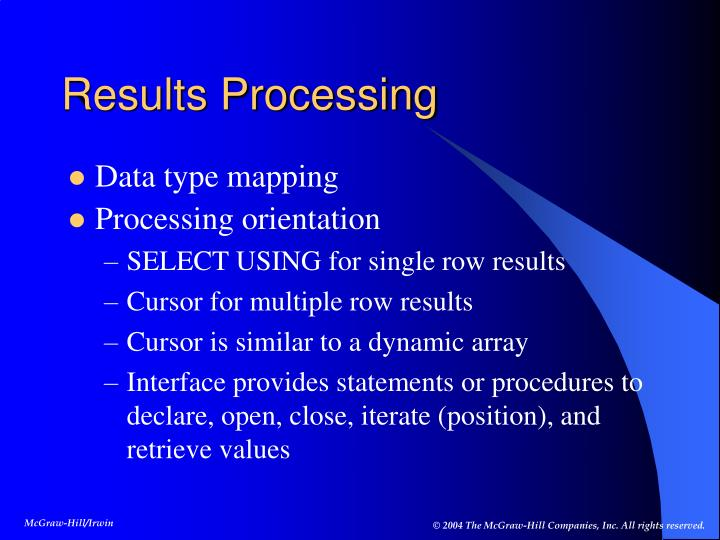 Results Processing