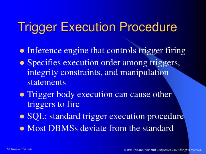 Trigger Execution Procedure