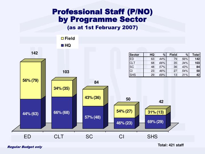 Professional Staff (P/NO)