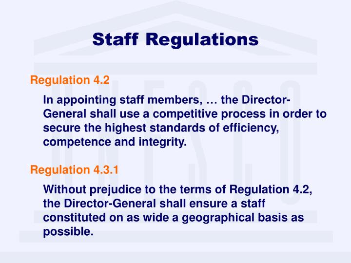 Staff Regulations