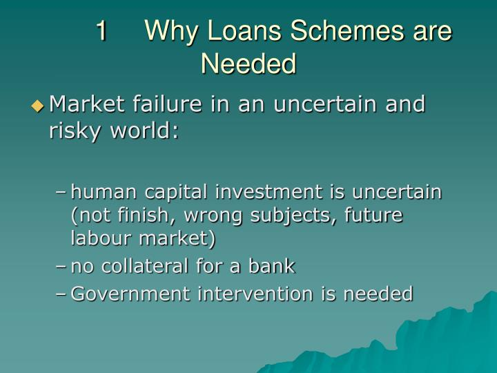 1 why loans schemes are needed