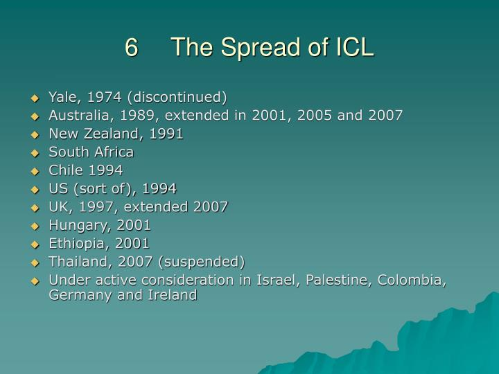 6	The Spread of ICL