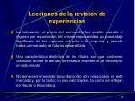 lecciones de la revisi n de experiencias1