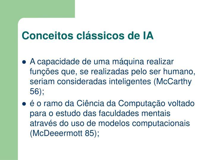 Conceitos clássicos de IA