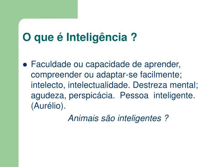 O que é Inteligência ?