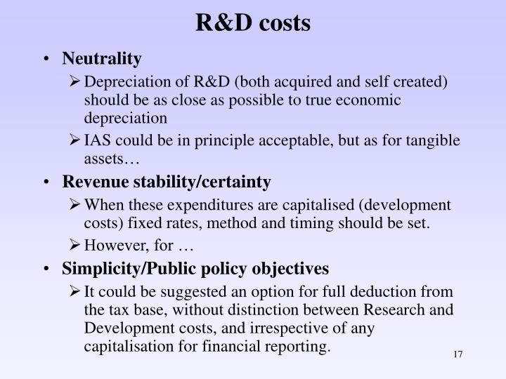 R&D costs