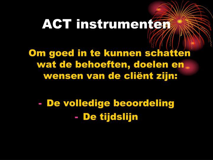 ACT instrumenten