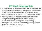10 th grade language arts