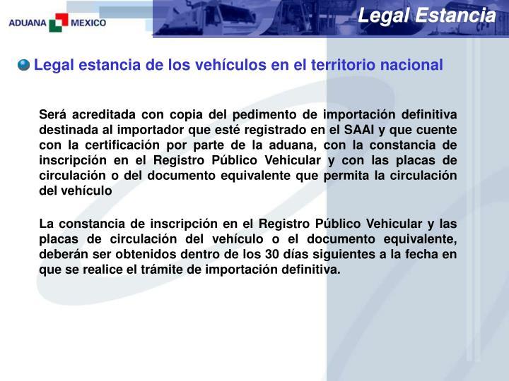 Legal Estancia