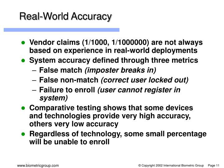 Real-World Accuracy