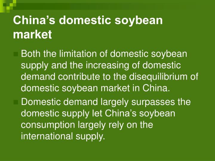 China's domestic soybean market