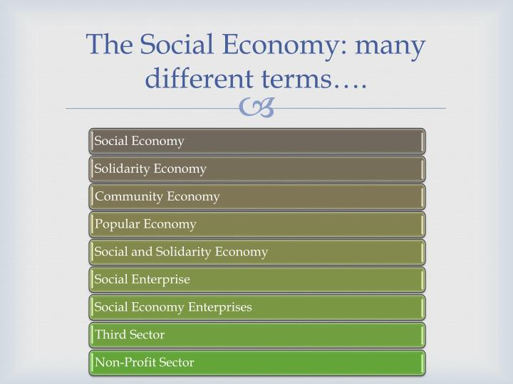 The Social Economy: many different terms….