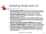 authoring studio tools 2