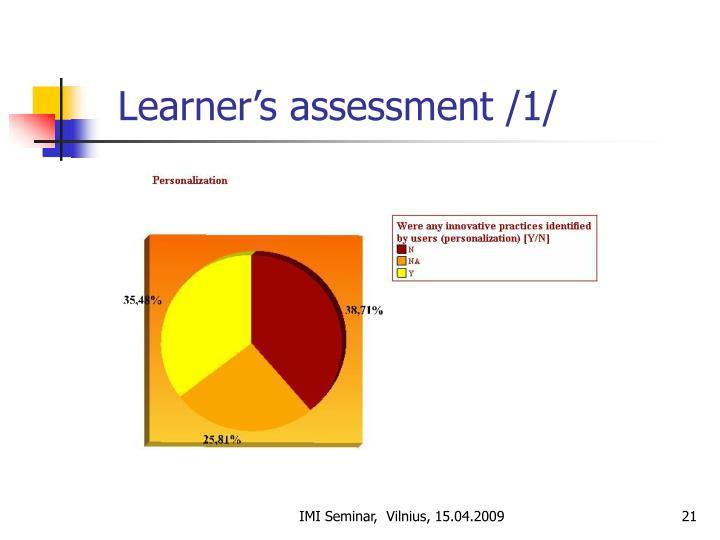 Learner's assessment /1/