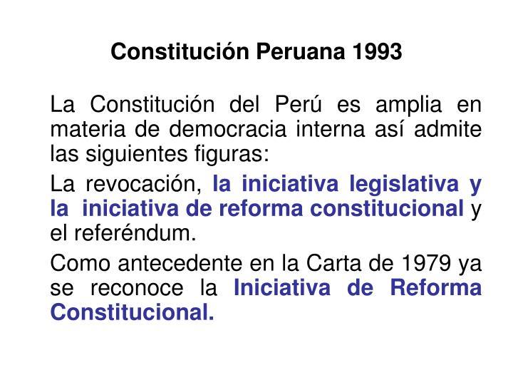 Constitución Peruana 1993