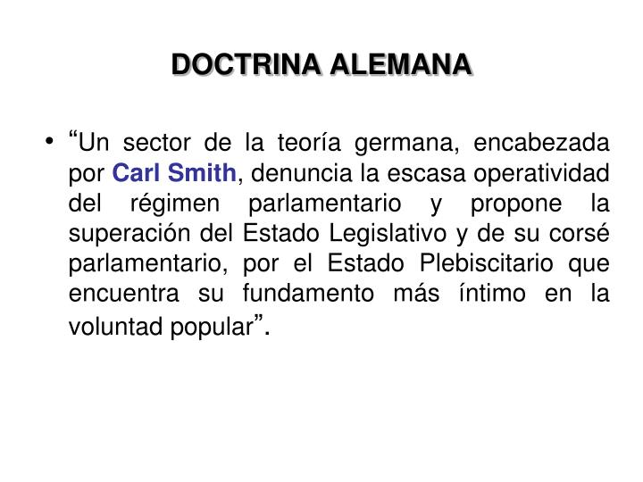 DOCTRINA ALEMANA