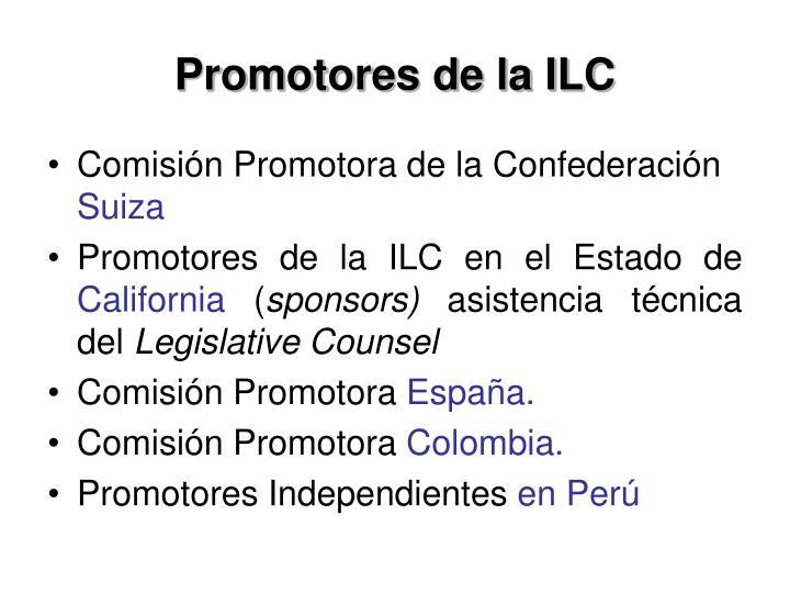 Promotores de la ILC
