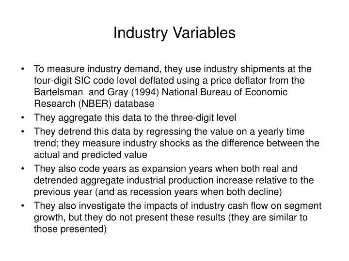 Industry Variables